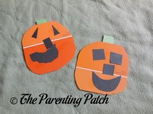 Paint Chip Pumpkin Craft
