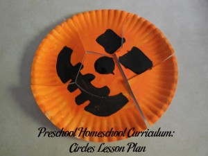 Paper Plate Pumpkin Puzzles