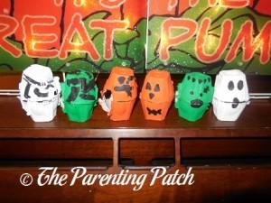 Halloween Pumpkin Egg Carton Craft