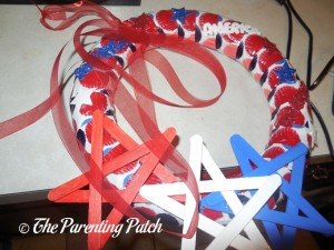 Red Ribbon for Patriotic Craft Stick Star Wreath