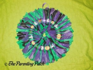 Finished Tablecloth Ribbon Halloween Wreath Craft