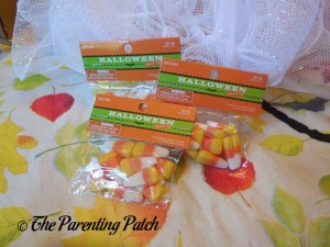 Fake Candy Corn for the Deco Mesh Candy Corn Wreath Craft