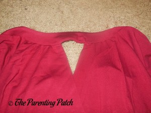 Neckline of Ninedaily Raglan-Sleeve Cross-Front V-Neck Ruched Blouse 1