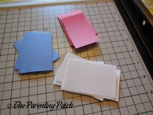 Paper Rectangles for Patriotic Rolled Paper Wreath Craft