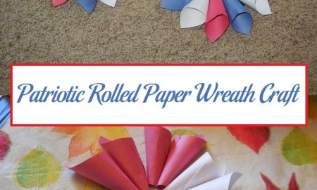 Patriotic Rolled Paper Wreath Craft