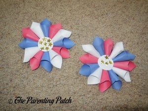 Finished Patriotic Rolled Paper Wreath Craft