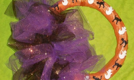 Sparkle Tulle Halloween Wreath Craft
