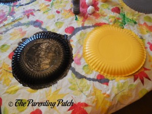 Painted Paper Plates for B Is for Bumblebee Paper Plate Craft