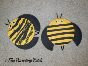 Finished B Is for Bumblebee Paper Plate Crafts