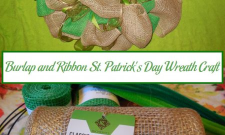 Burlap and Ribbon St. Patrick's Day Wreath Craft