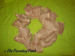 Wire Wreath with RichCraft Classic Rustic Burlap Roll