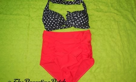 Fitglam Retro High-Waisted Bikini Swimsuit