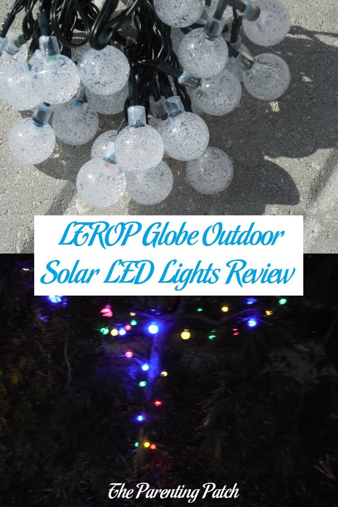 LTROP Globe Outdoor Solar LED Lights Review  Parenting Patch
