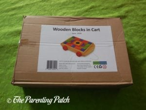 PSA Toddler Pull-Along Trailer with Wooden Blocks Box