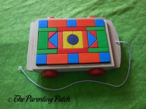 PSA Toddler Pull-Along Trailer with Wooden Blocks