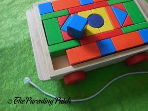 Blocks of PSA Toddler Pull-Along Trailer with Wooden Blocks 1