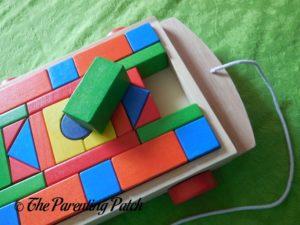 Blocks of PSA Toddler Pull-Along Trailer with Wooden Blocks 2