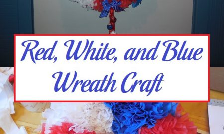 Red, White, and Blue Wreath Craft