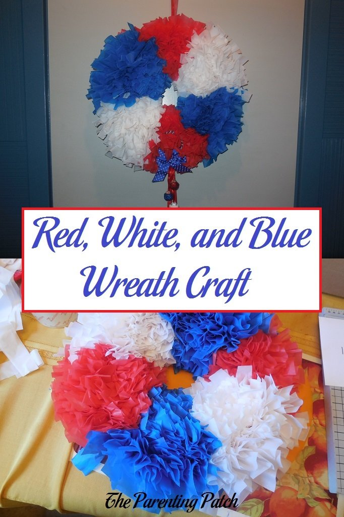 Plastic Door Strips >> Red, White, and Blue Wreath Craft | Parenting Patch