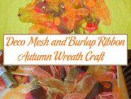 Deco Mesh and Burlap Ribbon Autumn Wreath Craft