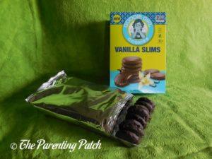 Open Box of Vanilla Slims Goodie Girl Cookies