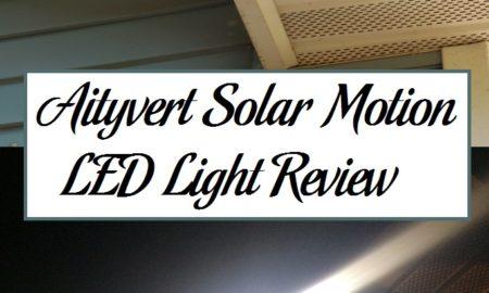 Aityvert Solar Motion LED Light Review