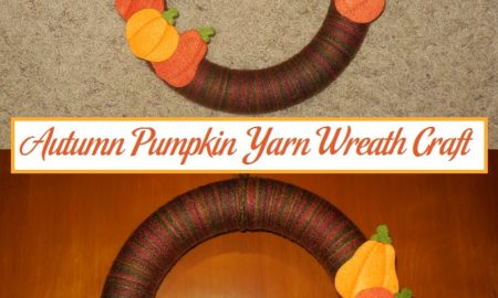 Autumn Pumpkin Yarn Wreath Craft