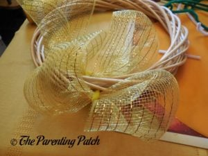 More Deco Mesh Loops of Deco Mesh and Ribbon Autumn Wreath Craft