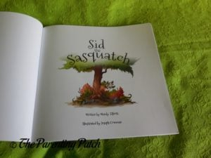 Title Page of 'Sid the Sasquatch'