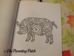 Uncolored Picture in 14 Peaks Barn Animals 3