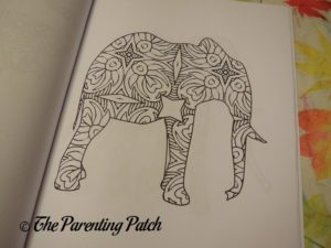 Uncolored Picture in 14 Peaks Amazing Elephants 1