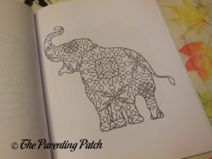 Uncolored Picture in 14 Peaks Amazing Elephants 2