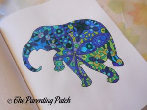 Colored Picture in 14 Peaks Amazing Elephants 1