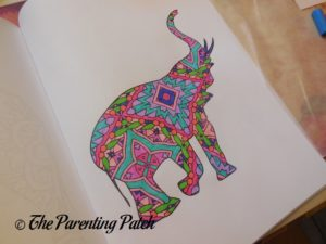 Colored Picture in 14 Peaks Amazing Elephants 2