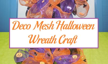 Deco Mesh Halloween Wreath Craft