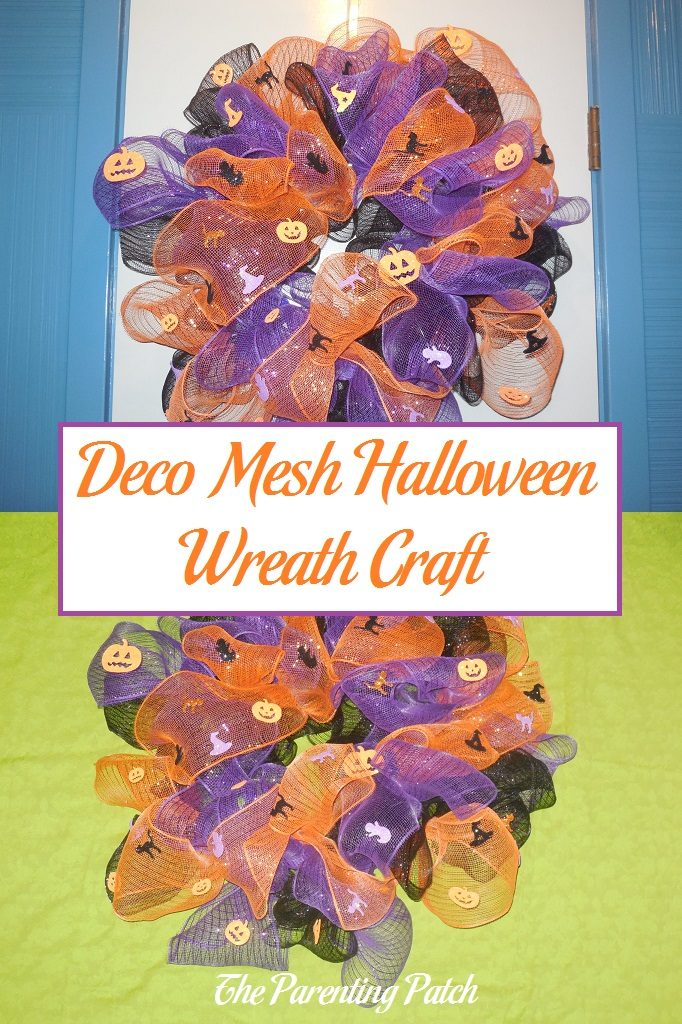 deco mesh halloween wreath craft parenting patch