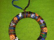 Halloween Yarn Wreath Craft