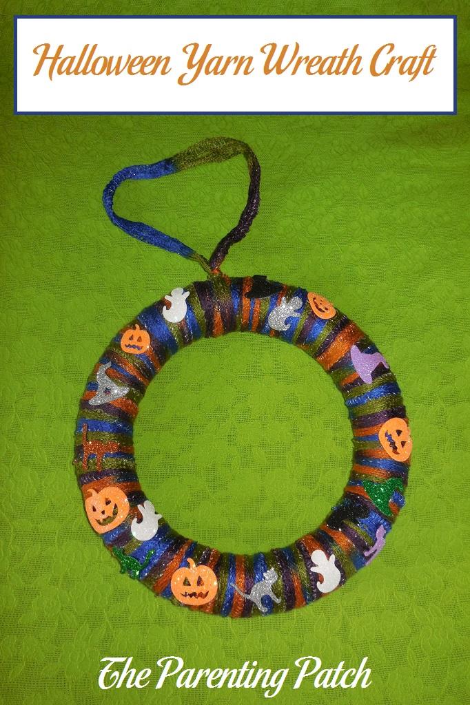 Halloween Yarn Wreath Craft Parenting Patch