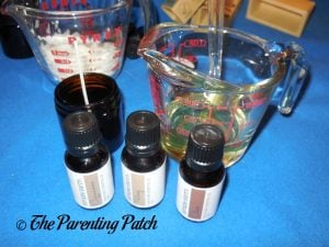 Making Candles with Simply Earth Essential Oil Box 2