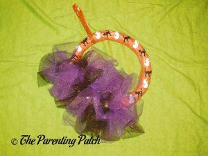 Sparkle Tulle Halloween Wreath Craft