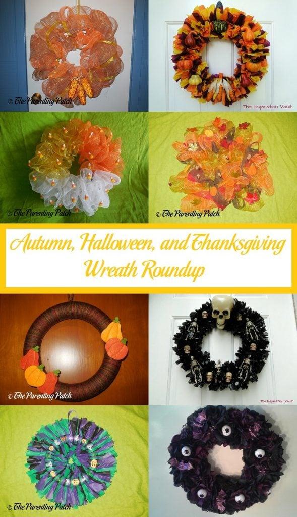 Autumn, Halloween, and Thanksgiving Wreath Roundup