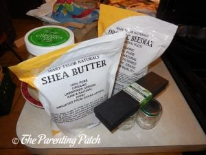 Ingredients for Easy DIY Body Butter and Lip Balm