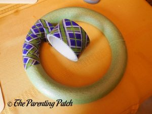 Wrapping Duct Tape Around the Duct Tape Halloween Wreath Craft