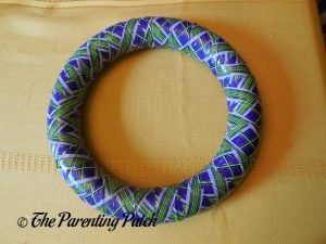 Duct Tape-Wrapped Foam Wreath for Duct Tape Halloween Wreath Craft