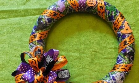 Duct Tape Halloween Wreath Craft
