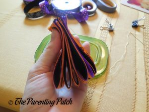 Sewing Accordion Loops with Halloween Ribbon
