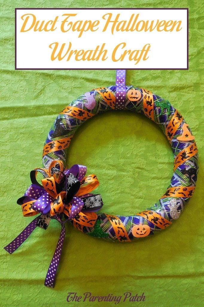Duct Tape Halloween Wreath Craft