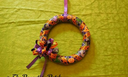 Finished Duct Tape Halloween Wreath Craft