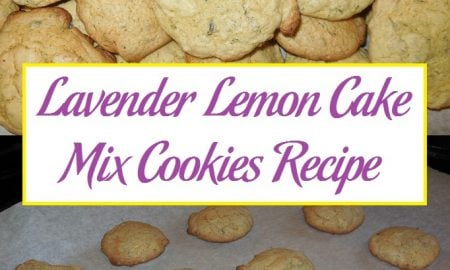 Lavender Lemon Cake Mix Cookies Recipe