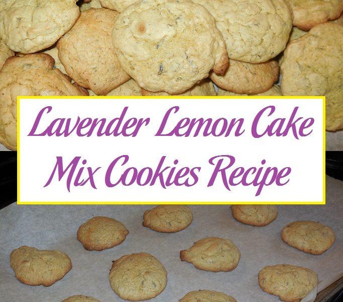 Lavender Lemon Cake Cookies